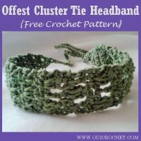 Offset Cluster Tie Headband ~ Oui Crochet