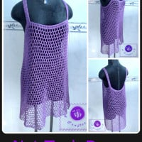 Crochet Net Tank Dress ~ Maz Kwok's Designs