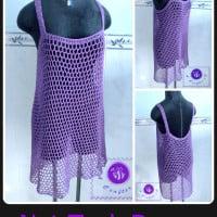 Crochet Net Tank Dress ~ Maz Kwok's Designs