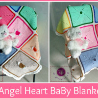 Angel Heart Baby Blanket ~ Maz Kwok's Designs