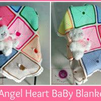 Angel Heart Baby Blanket ~ Maz Kwok's Designs