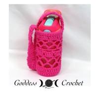 """""""What a Mesh"""" Water Bottle Holder ~ Goddess Crochet"""