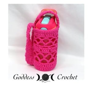 """What a Mesh"" Water Bottle Holder ~ Goddess Crochet"