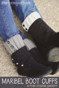 Maribel Boot Cuffs ~ Rebecca Langford - Little Monkeys Crochet