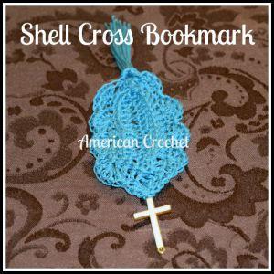 Shell Cross Bookmark ~ American Crochet