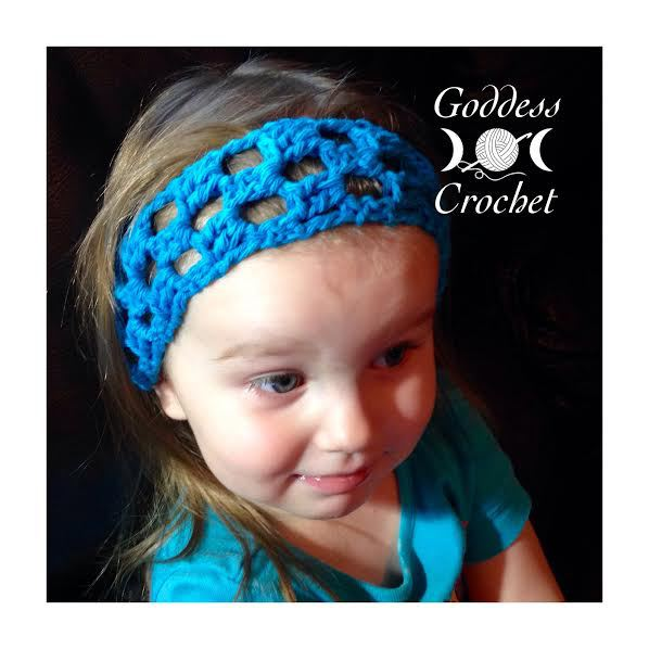 Simple Squares Headband Free Crochet Pattern