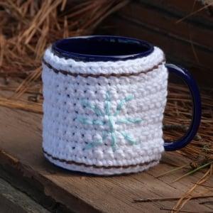 Snowflake Mug Cozy ~ Crochet Spot