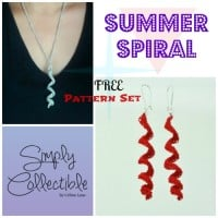 Summer Spiral Earrings and Necklace Set ~ Celina Lane - Simply Collectible