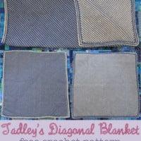 Tadley's Diagonal Blanket ~ Marie Segares – Underground Crafter