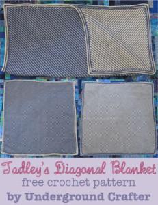 Tadley's Diagonal Blanket ~ Marie Segares - Underground Crafter