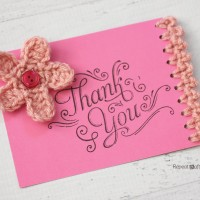 Note Card with Crochet Edging ~ Repeat Crafter Me
