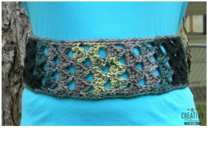 Triangle Stitch Belt Free Crochet Pattern