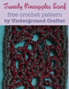 Tweedy Pineapples Scarf ~ Marie Segares - Underground Crafter