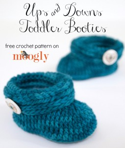 Ups and Downs Toddler Booties ~ Moogly