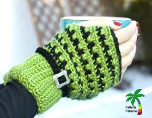 X-Stitch Fingerless Gloves ~ Pattern Paradise
