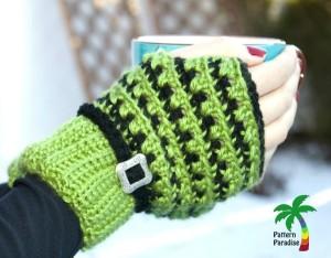 X-Stitch Fingerless Gloves ~ Pattern Paradise