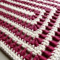 A Bullion Stitch Placemat ~ Rhelena – CrochetN'Crafts