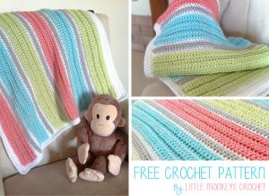 My First Baby Blanket ~ Rebecca Langford - Little Monkeys Crochet