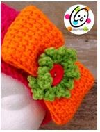 Tunisian Crochet Bow ~ Snappy Tots