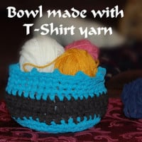 Bowl Made with T-Yarn ~ Sara Sach - Posh Pooch Designs
