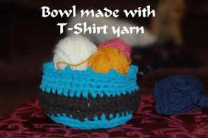 Bowl Made with T-Yarn ~ Sara Sach - Posh Pooch Designs