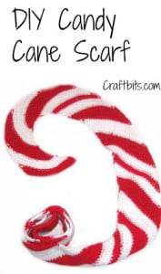 Christmas Candy Cane Scarf ~ Craftbits