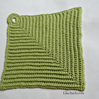 Easy Crochet Dishcloth ~ Free Crochet Patterns and Designs by LisaAuch