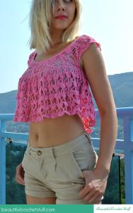 Crochet Summer Top ~ Jane Green - Beautiful Crochet Stuff