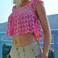 Crochet Summer Top ~ Jane Green - Beautiful Crochet Stuff