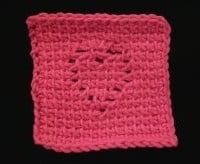 Tunisian Heart Coaster ~ Crochet Spot