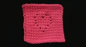 Tunisian Heart Coaster ~ Crochet Spot