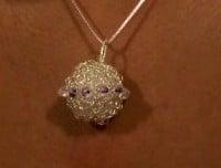 Wire Ball Pendant ~ Candace - Crochet Spot