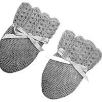 Infants Crochet Mittens ~ Free Vintage Crochet