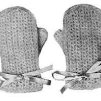 Angora Crochet Mittens ~ Free Vintage Crochet