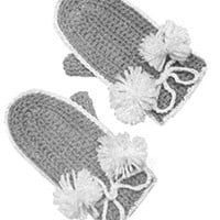 Children's Crochet Mittens ~ Free Vintage Crochet