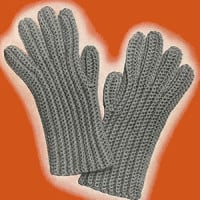 Mens Crochet Gloves ~ Free Vintage Crochet