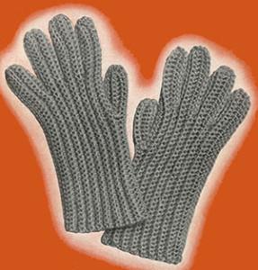Mens Crochet Gloves ~ Free Vintage Crochet