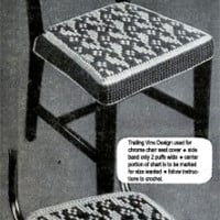 Trailing Vine Chair Seat Cover Pattern ~ Free Vintage Crochet