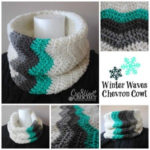 Winter Waves Chevron Cowl ~ Lorene Eppolite - Cre8tion Crochet