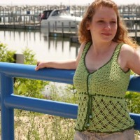 Beach Grass Tank Top ~ Evergreen Shore – Cre8tion Crochet
