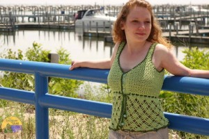 Beach Grass Tank Top ~ Evergreen Shore - Cre8tion Crochet