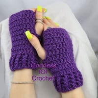 Simple Ribbed Cuff Wrist Warmers ~ Goddess Crochet