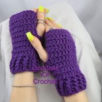 Simple Ribbed Cuff Wrist Warmers ~ Goddess Crochet