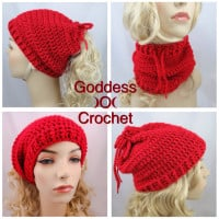 Convertible Ponytail Hat Neck Warmer ~ Goddess Crochet