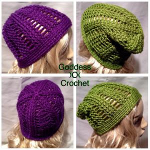 Saturday Night Slouch Beanie Two Ways ~ Goddess Crochet