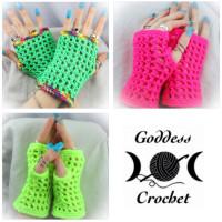 """""""Modonna"""" Inspired Wristers ~ Goddess Crochet"""