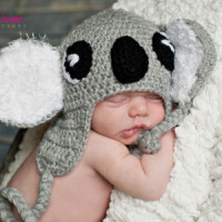 Koala Crochet Hat ~ Jennyandteddy