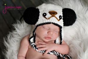 Crochet Panda Hat ~ Jennyandteddy
