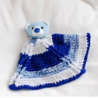"""Top This"" Bear Crochet Lovey ~ Petals to Picots"