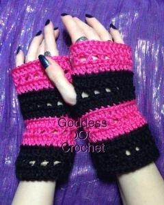"""""""The Nikki Wristers"""" Fingerless Gloves ~ Goddess Crochet"""